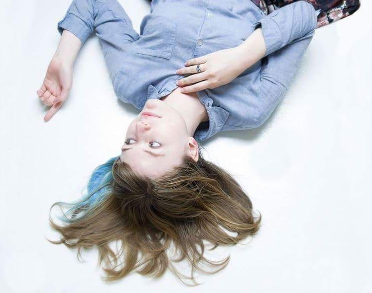 Upside Down Blue Studio Portrait photo by Katherine Augade
