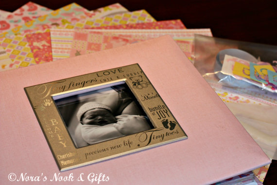 baby girl memorial scrapbook