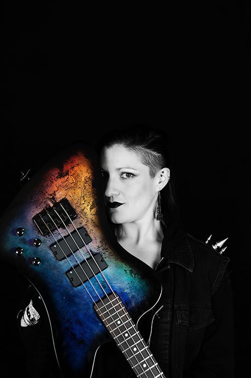 Kat with her bass