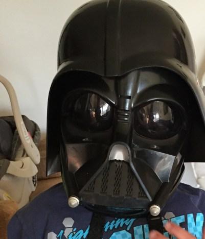 "5 yr. old Darth Vader ""smiling"""
