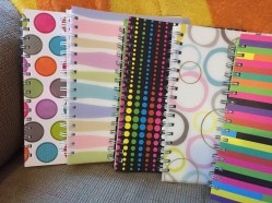 Just some of the 3 subject notebooks that I use for everything!