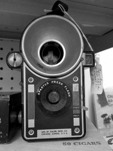 Here is a cool camera I found in an antique store.