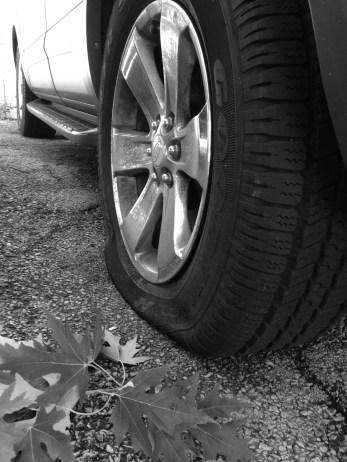 One flat wheel