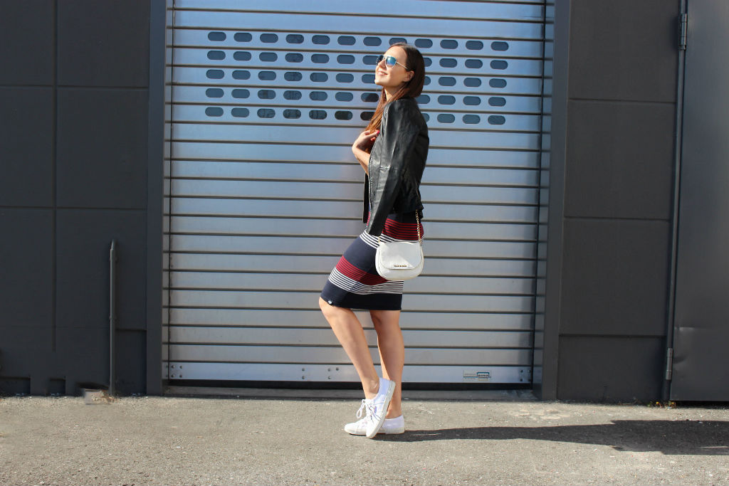 Daily Look Superdry casual dress and Bomboogie Leather Jacket_01