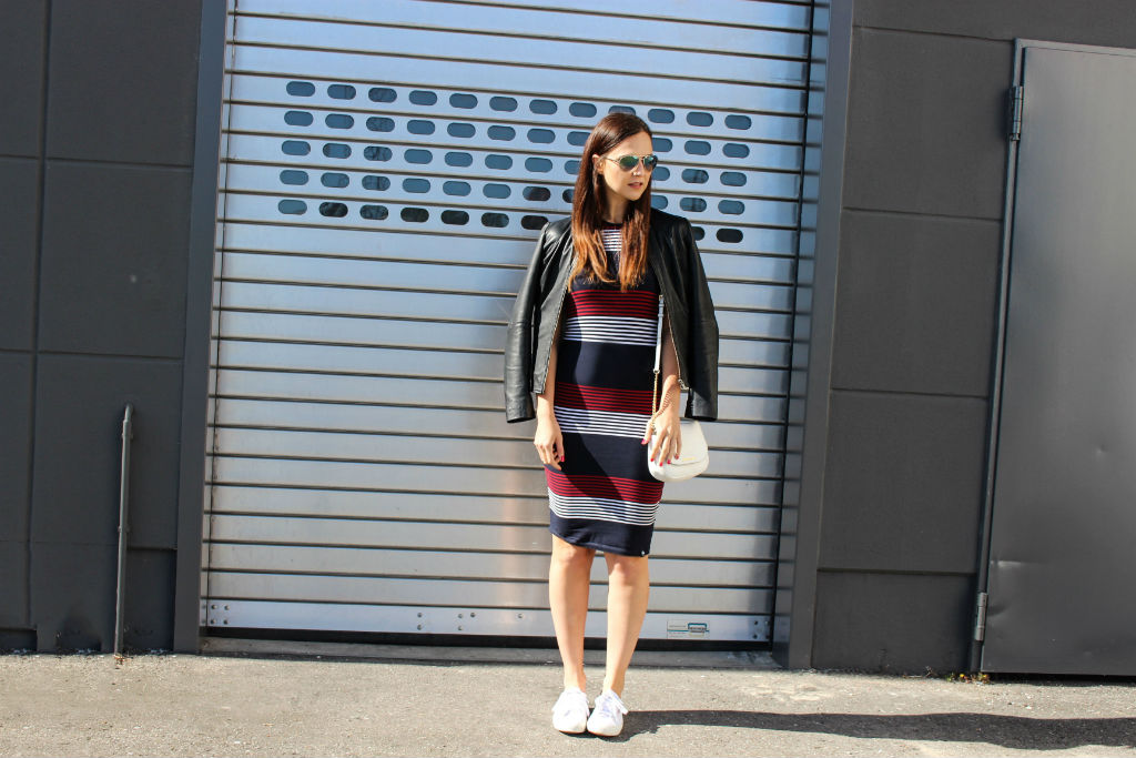 Daily Look Superdry casual dress and Bomboogie Leather Jacket_03