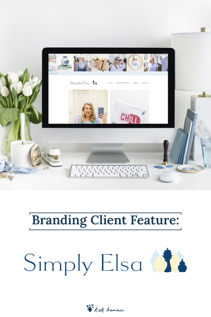 Kate Hammer Blog- Simply Elsa Brand Website Display
