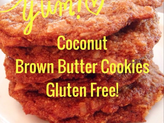 Coconut Brown Butter Cookies–Gluten Free