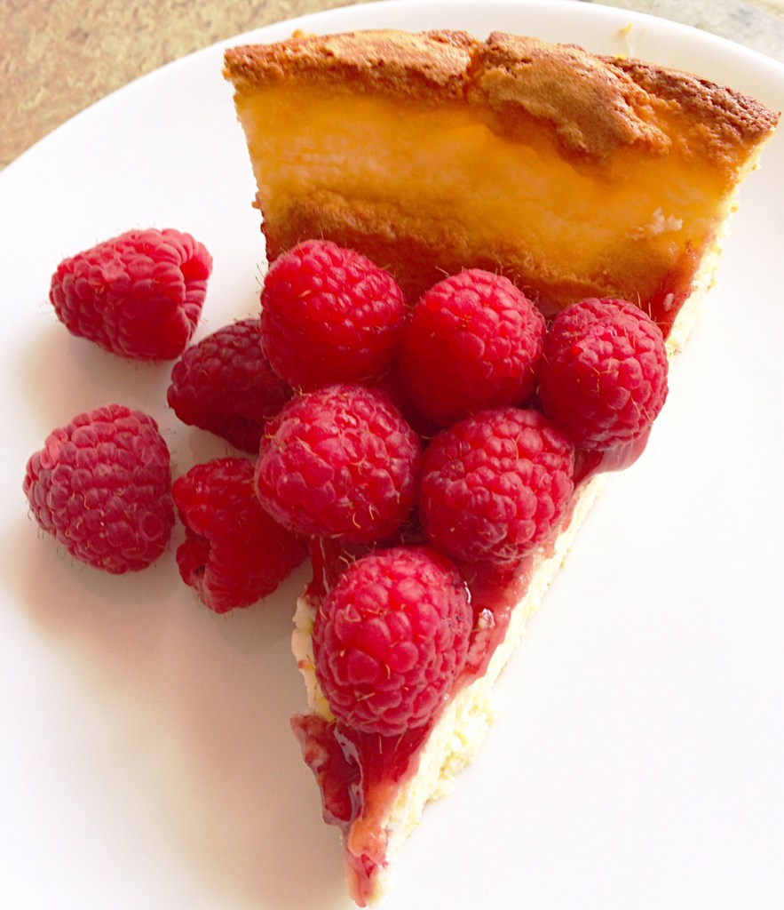 Ricotta Cheesecake with Lemon & Raspberries