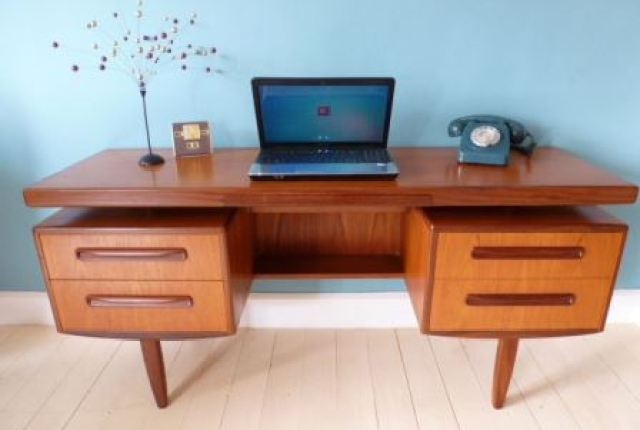 Vintage G Plan fresco desk dressing table as seen in Kate Beavis Vintage Home blog