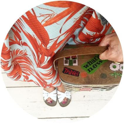 Vintage Caro Nan handbag with Kate Beavis blog