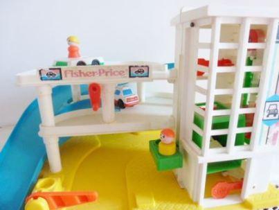 garage fisher price toys vintage