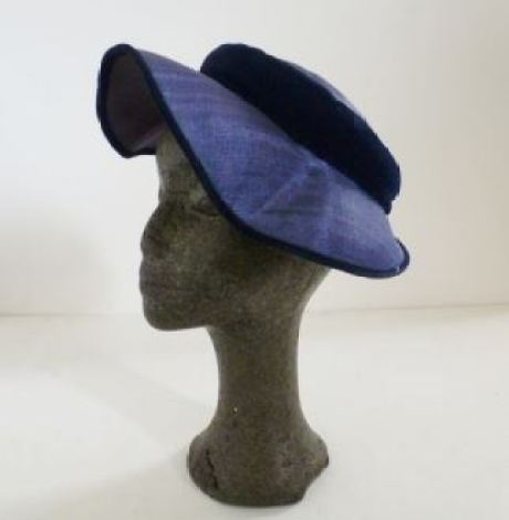 vintage blue hat from Kate Beavis