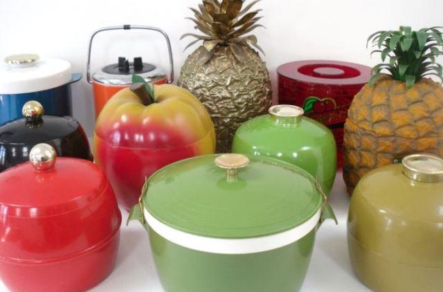 Vintage ice buckets by Kate Beavis