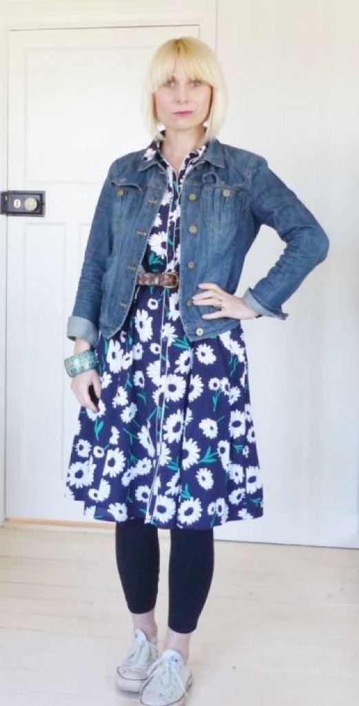 Tu at Sainsburys Vintage Style dress  worn with vintage accessories by Kate Beavis