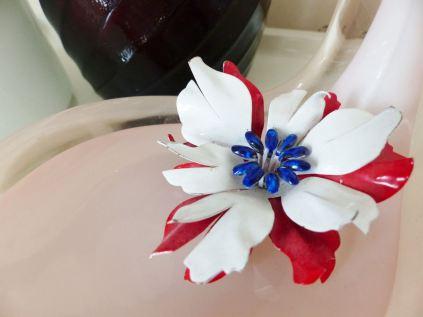 1960s enamel vintage flower brooch from Kate Beavis