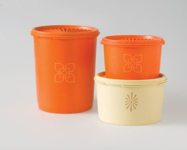 Vintage kitchen brands Tupperware by Kate Beavis Vintage Home (photo by Simon Whitmore for FW Media)