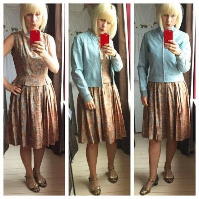 Kate Beavis wearing 1960s vintage