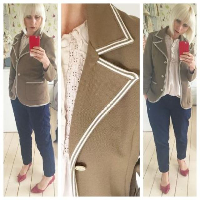 Vintage 1970s blazer as worn by Kate Beavis Vintage Fashion Myths