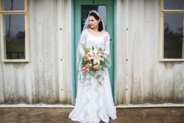 1940s vintage wedding flowers by Waterbaby Flowers for the National Vintage Wedding Fair