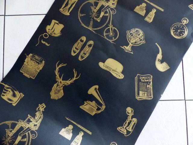 Holden Decor Gents vintage wallpaper as featured on Kate Beavis Vintage Home Blog