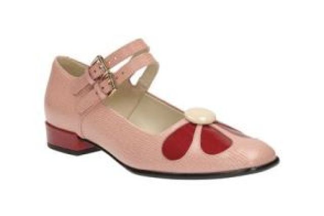 Orla Kiely for Clarks shoes with a vintage style as featured on Kate Beavis Vintage Blog