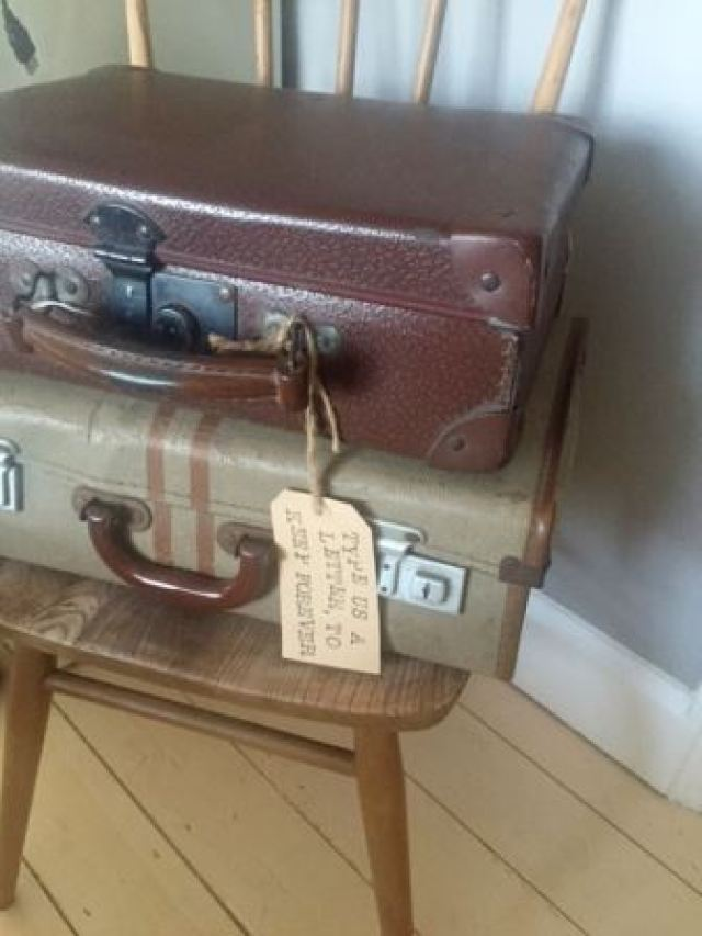 Vintage suitcases on Kate Beavis Vintage Blog