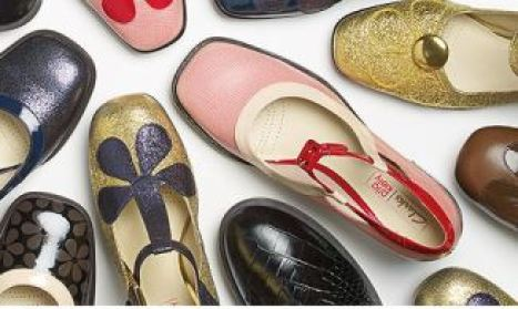 Orla Kiely for Clarks vintage style shoes as featured on Kate Beavis Vintage Home blog