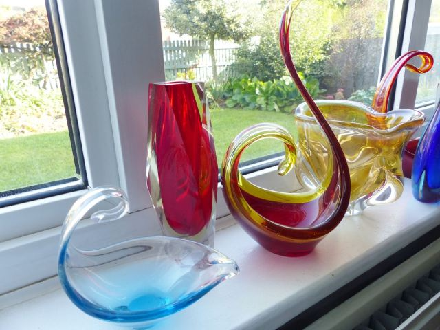 Vintage mid century Murano glass  as featured in Kate Beavis Vintage Home
