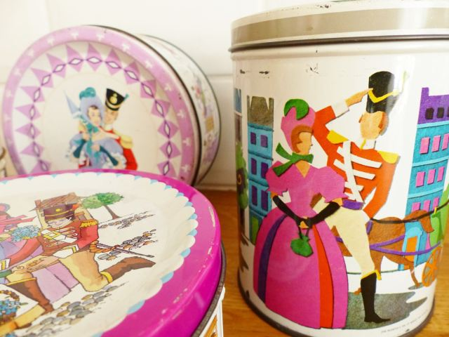 Vintage Quality Street tin as featured on Kate Beavis Vintage Home blog