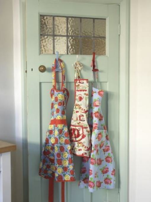 Vintage apron as featured in Style Your Modern Vintage Home written by Kate Beavis