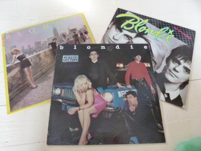 blondie albums as featured on Kate Beavis vintage home blog