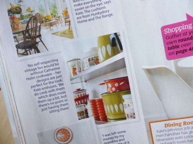 Kate Beavis Vintage Retro Home featured on Home Style magazine