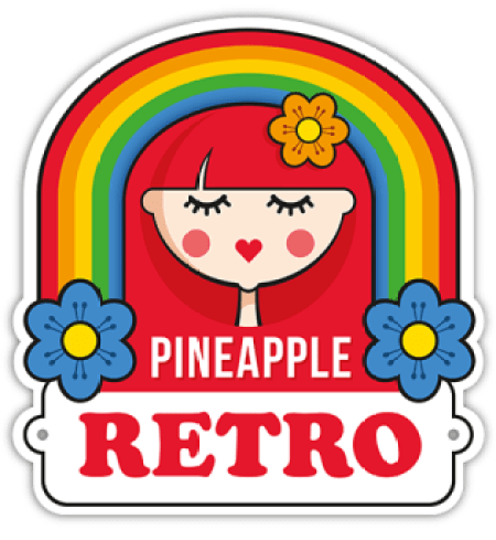 Pineapple Retro as featured on Kate Beavis Vintage Home blog