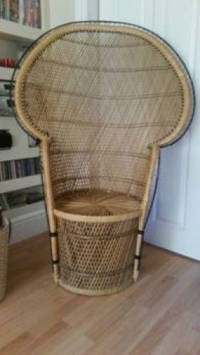 vintage peacock chair as seen on Kate Beavis vintage home blog