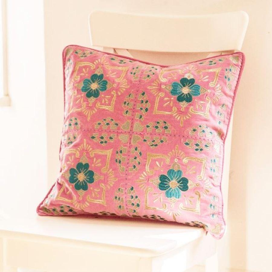original_tilework-blush-velvet-embroidered-cushion