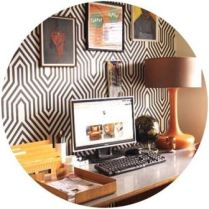 Vintage office on Kate Beavis Vintage Home blog