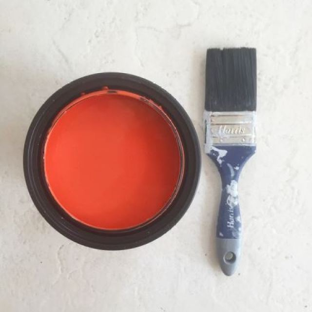 Valspar paint - coral as featured on Kate Beavis.com