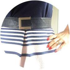 Vintage navy blue leather belt