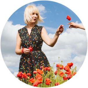 Kate Beavis in the poppy fields