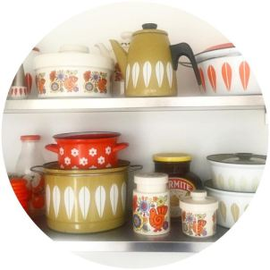 Vintage kitchen with Cathrine Holm, Lord Nelson Gaytime on Kate Beavis blog