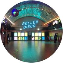Vintage roller disco in Dreamland on Kate Beavis blog in Margate