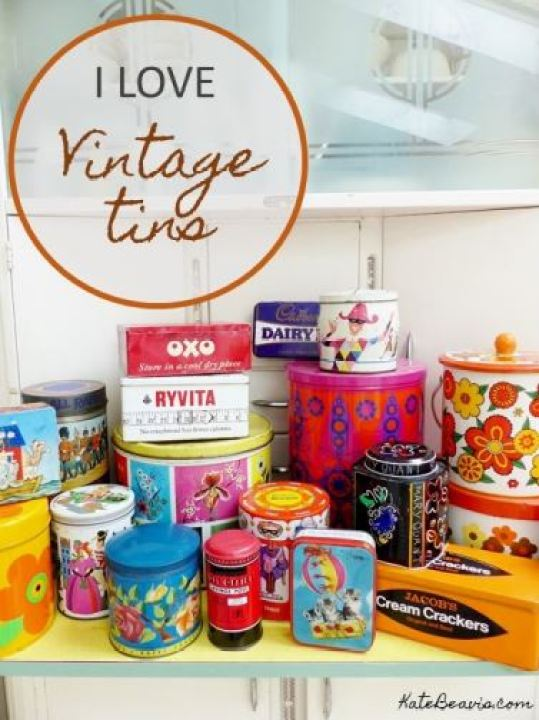 I Love Vintage Tins by Kate Beavis.com