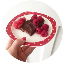 Delicously Ella Raw Brownies on vintage Midwinter on Kate Beavis Vintage Home blog