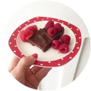 Delicously Ella Raw Brownies on vintage Midwinter on Kate Beavis Vintage Home blog