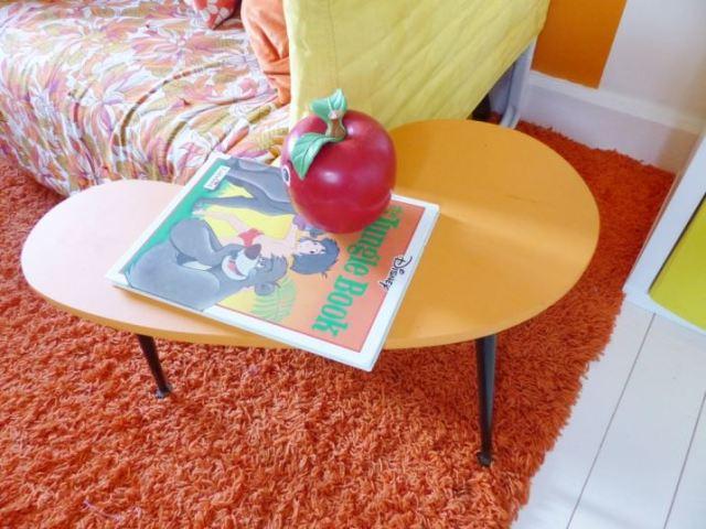 A vintage children's room by Kate Beavis.com, DIY kidney tables