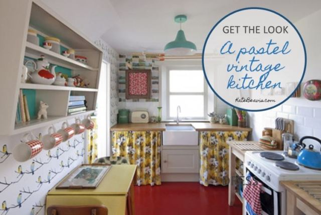 Get The Look A Scandi pastel kitchen as featured on Kate Beavis vintage home blog