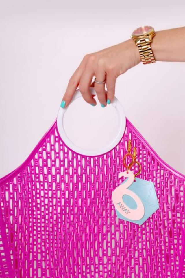 Bag charms poking fun of the picture perfect Insta lifestyle by False Friends