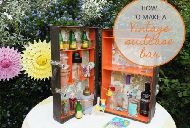 How to make a vintage suitcase cocktail gin bar