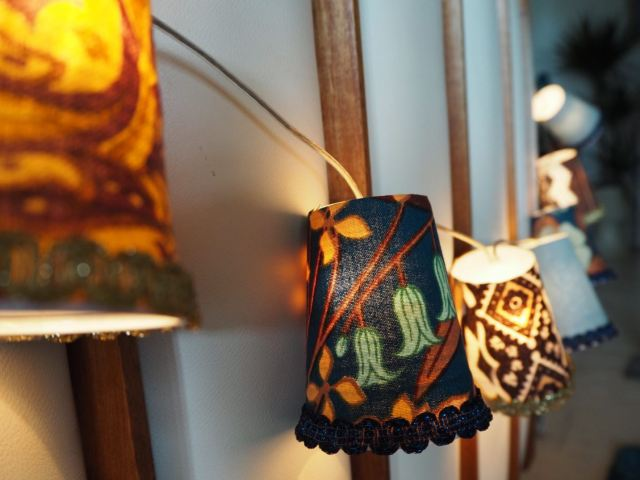 How to make vintage fabric lampshade fairy lights