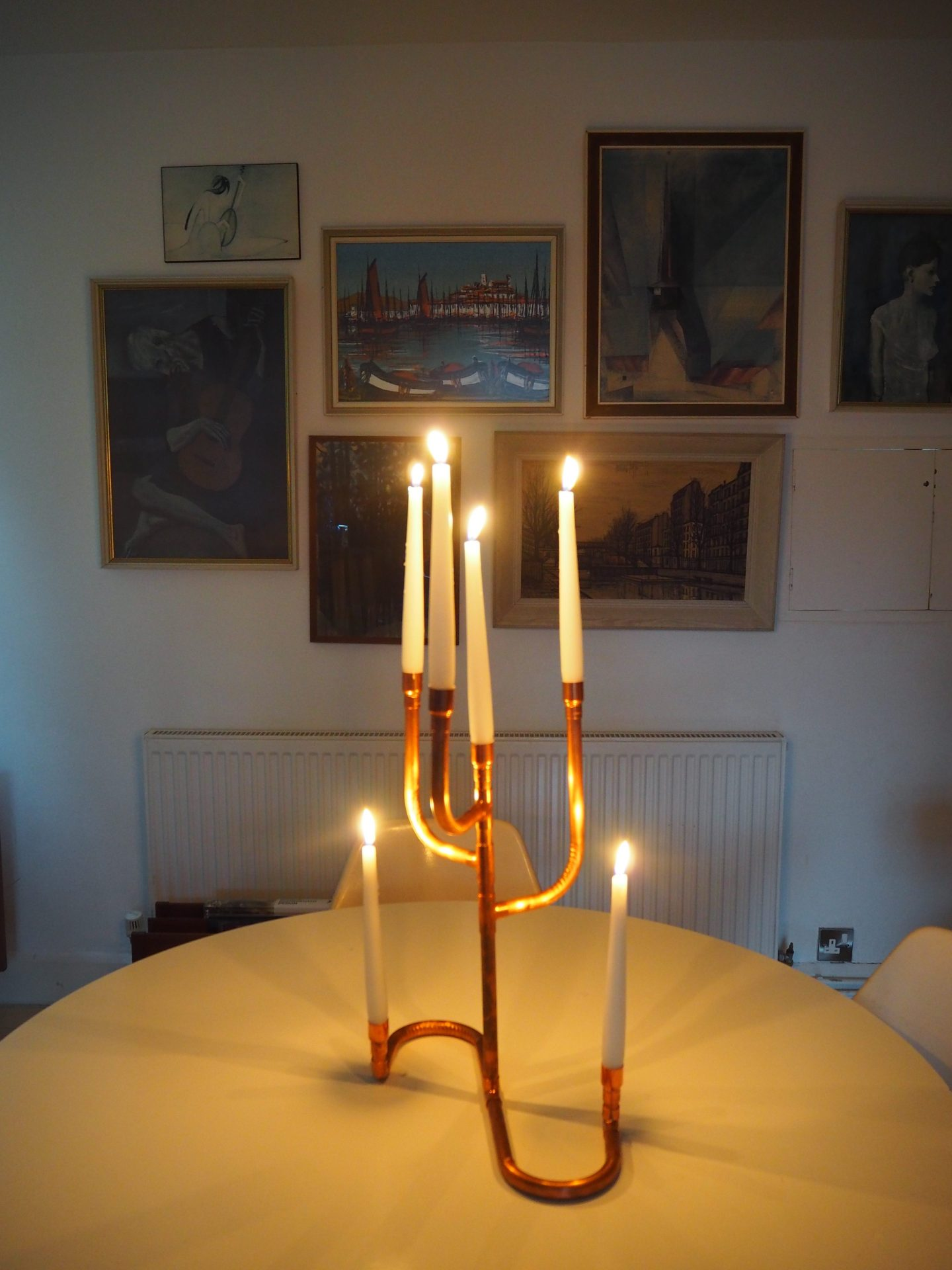 How to make a copper pipe candle holder